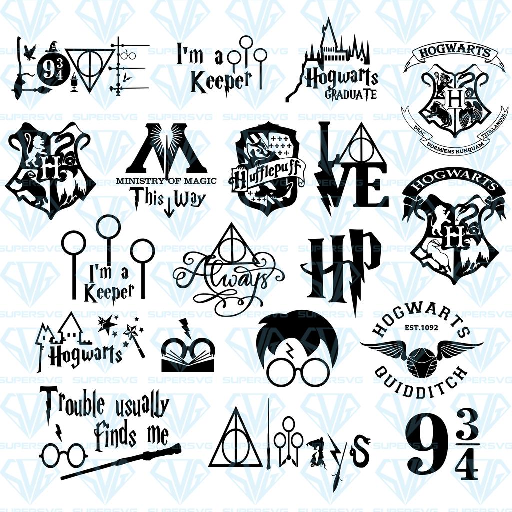 Harry Potter Bundle Svg Files For Silhouette Files For Cricut Svg Dxf Eps Png Instant Download 2020 Boyama Sayfalari Mandala Cikartma Boyama Sayfalari