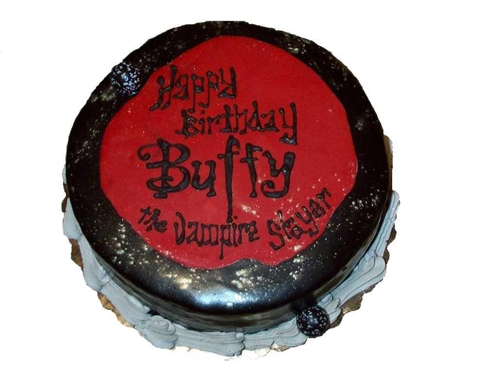 Birthday Cake For Buffy The Vampire Slayer BUFFY THE VAMPIRE - Slayer birthday cake