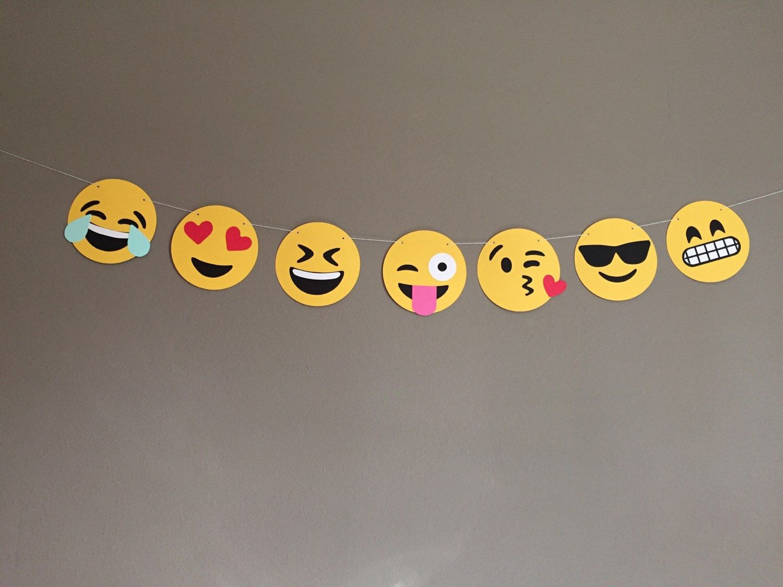 Emoji Banner Emoji Birthday Party Emoji Birthday Emoji Decorations
