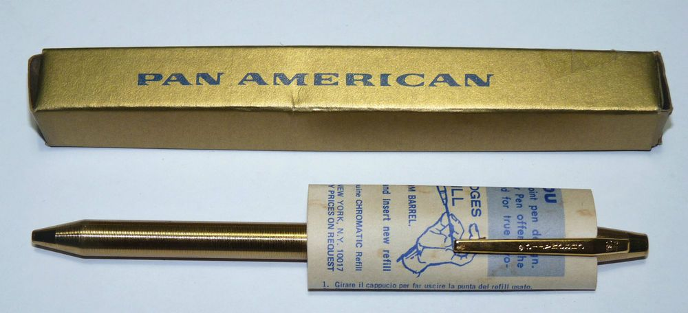 Vtg Pan Am Airlines 1950s Chromatic Automatic Pen Unused