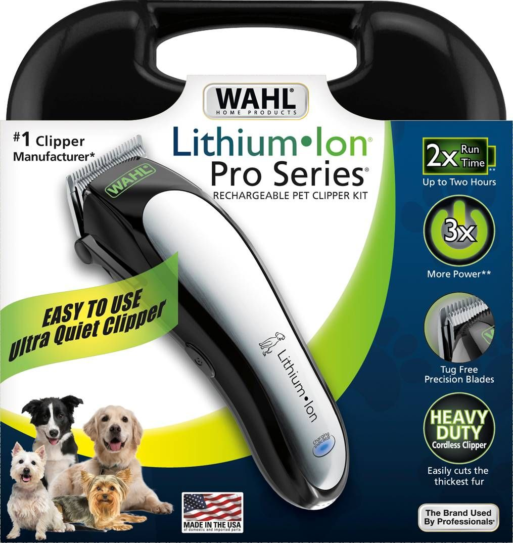 Love My Wahl Lithium Ion Pro Series Clipper Kit Dyi Grooming Saves Money Helps You Bond With Your Pet And Kee Dog Clippers Dog Grooming Dog Grooming Supplies