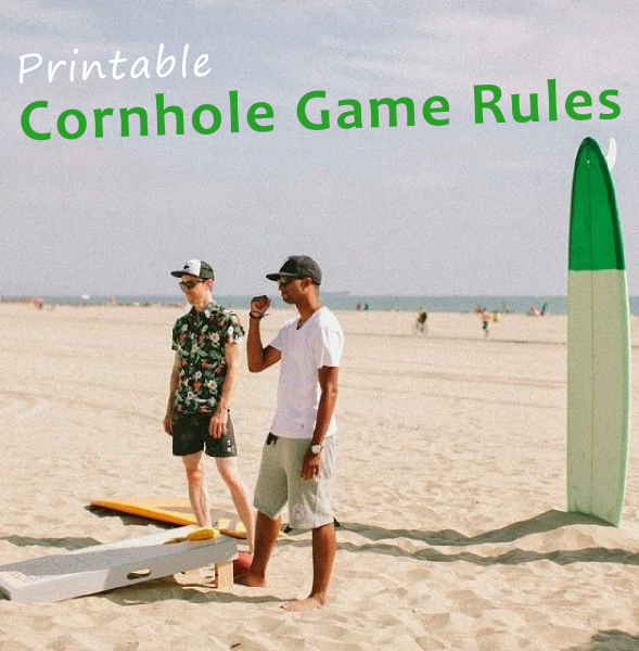 graphic about Printable Bean Bag Toss Rules called Do by yourself will need printable Cornhole Suggestions for your Cornhole