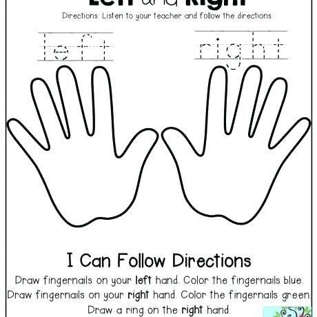 Following Directions Worksheet for Kindergarten Follow