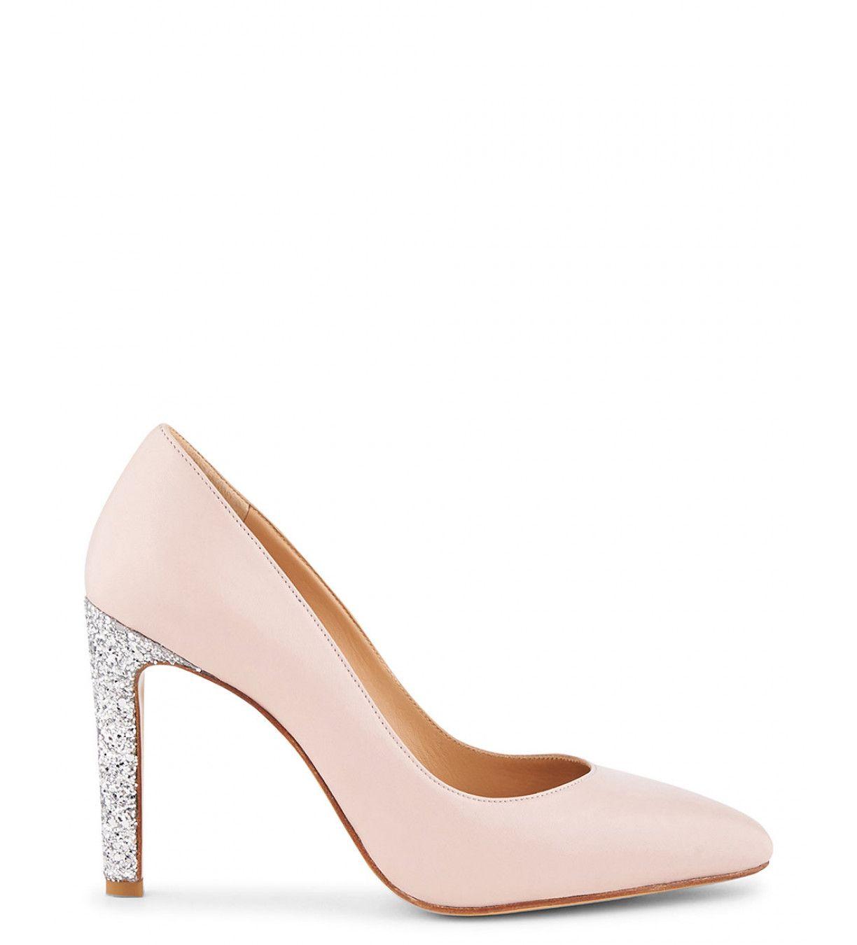 chaussure a talon femme tendance rose poudré