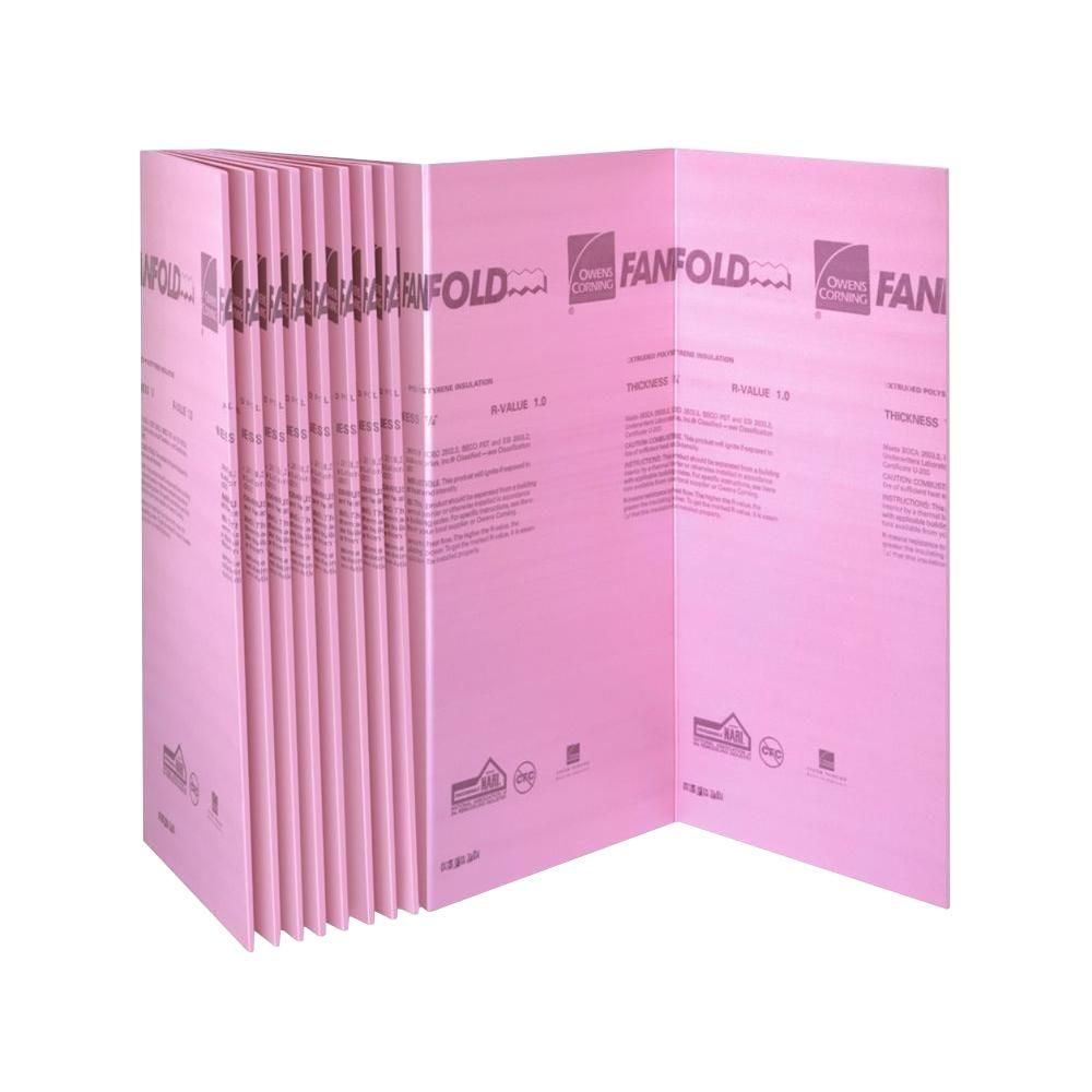 Owens Corning Foamular 1 4 In X 4 Ft X 50 Ft R 1 Fanfold Rigid Foam Board Insulation Sheathing 21um The Home Depot Foam Insulation Board Fanfold Insulation Rigid Insulation