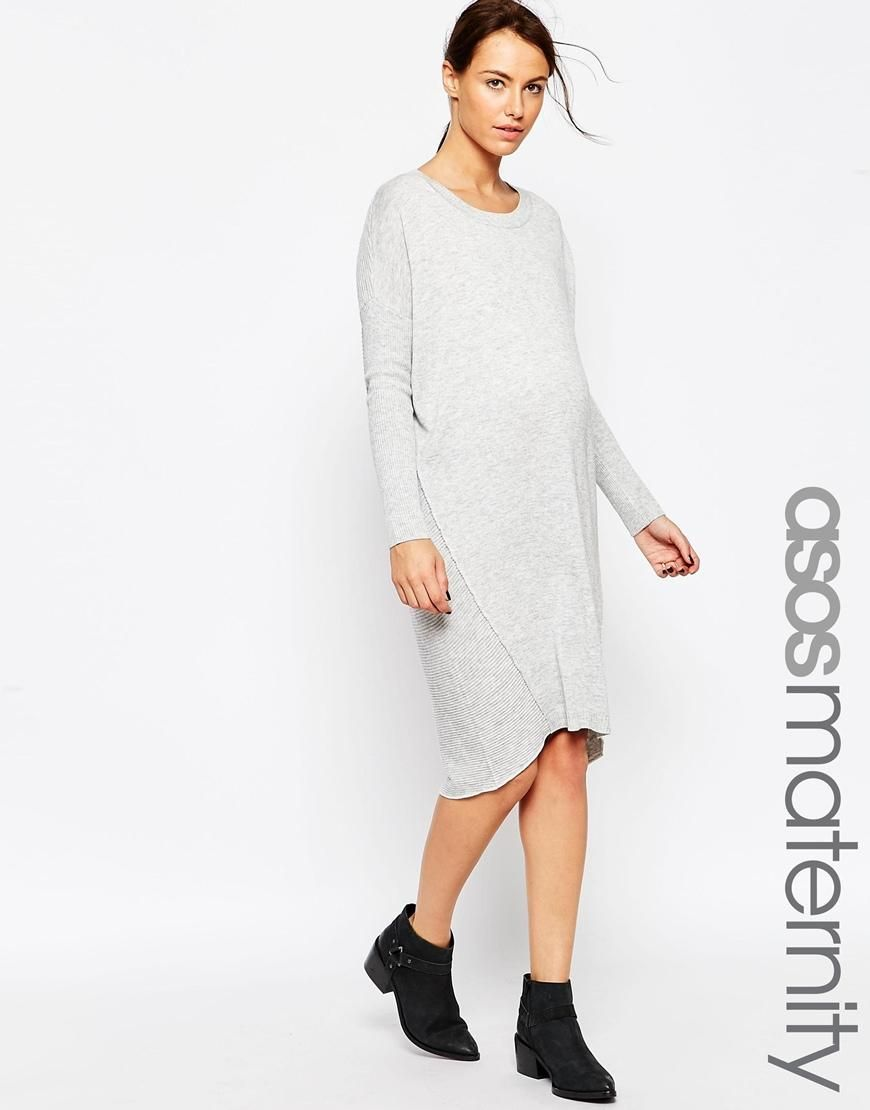 0f698c698736e ASOS Maternity | ASOS Maternity Midi Jumper Dress at ASOS ...