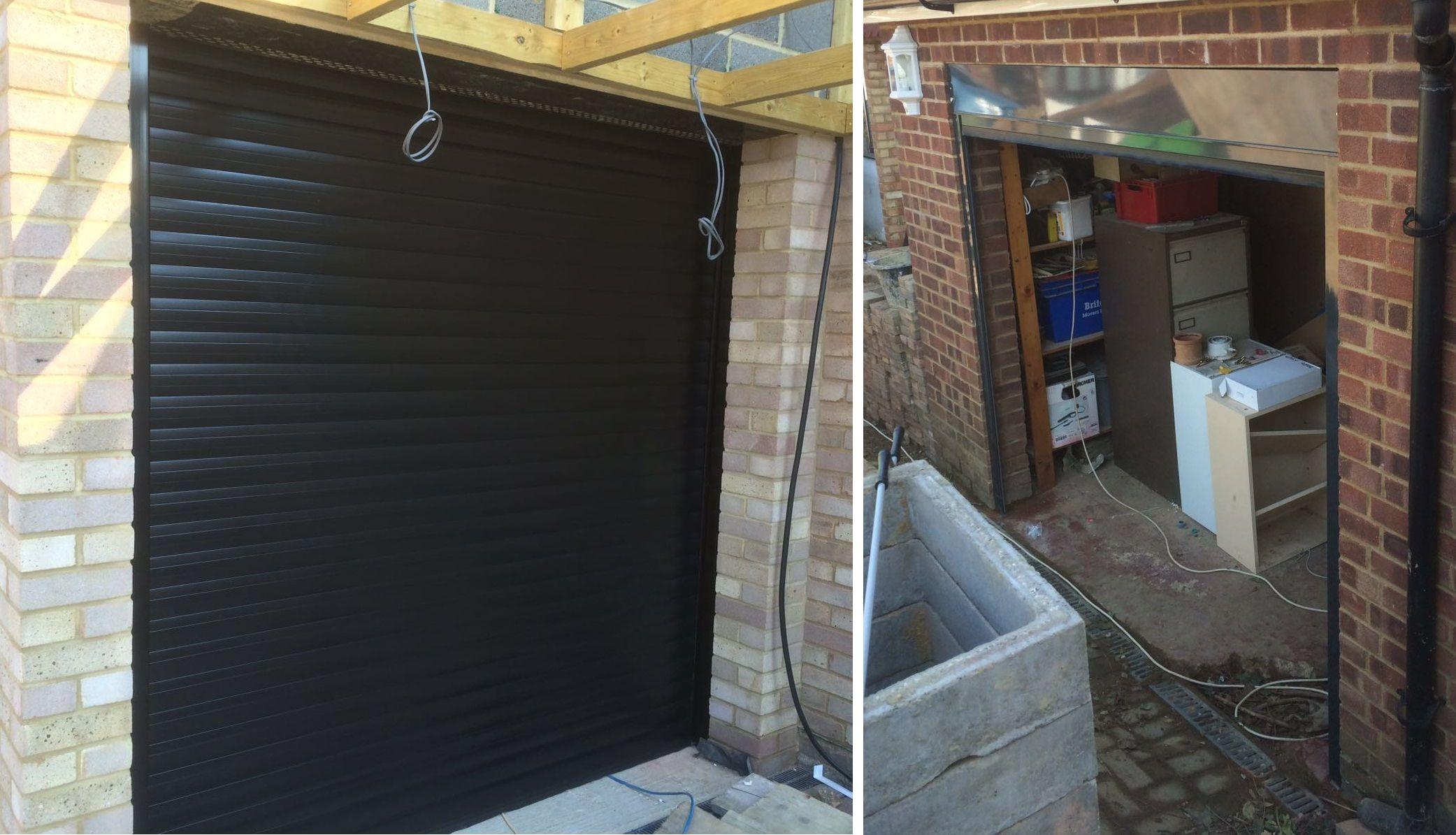 Happy couple our rsg7000 garage door security shutter