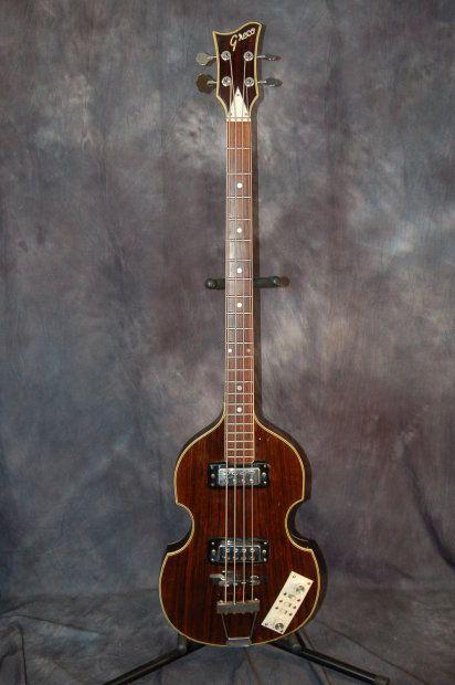1967 Greco Model 971 Beatle Bass Original Case Rosewood Lawman Guitars Reverb Bass Guitar Guitar Bass Guitar Tabs