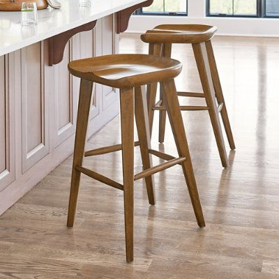 Adams Backless Bar Counter Stool In 2020 Counter Stools Backless Bar Stools Wood Counter Stools
