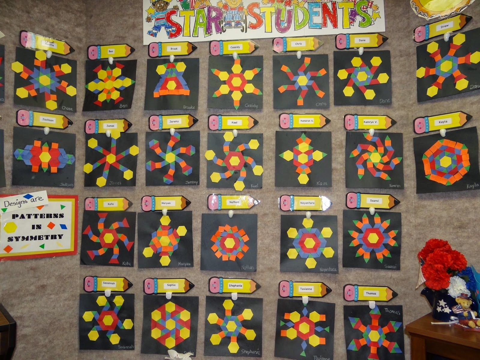 Geometry Shape Books And Pattern Block Art