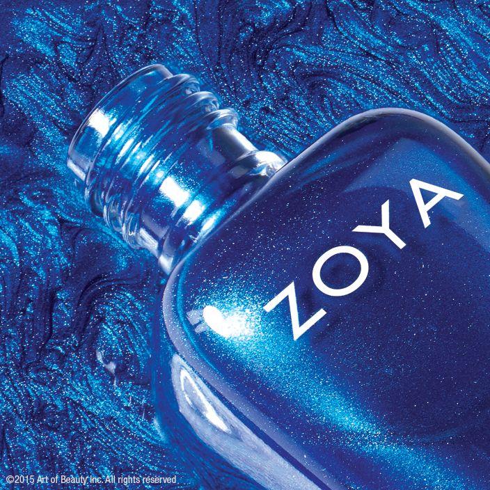 Zoya Nail Polish in Estelle - vibrant metallic blue!