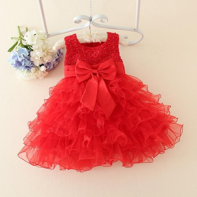 Kids Infant Baby Girl Summer Party Wedding Princess Dresses Bow Holiday Sundress