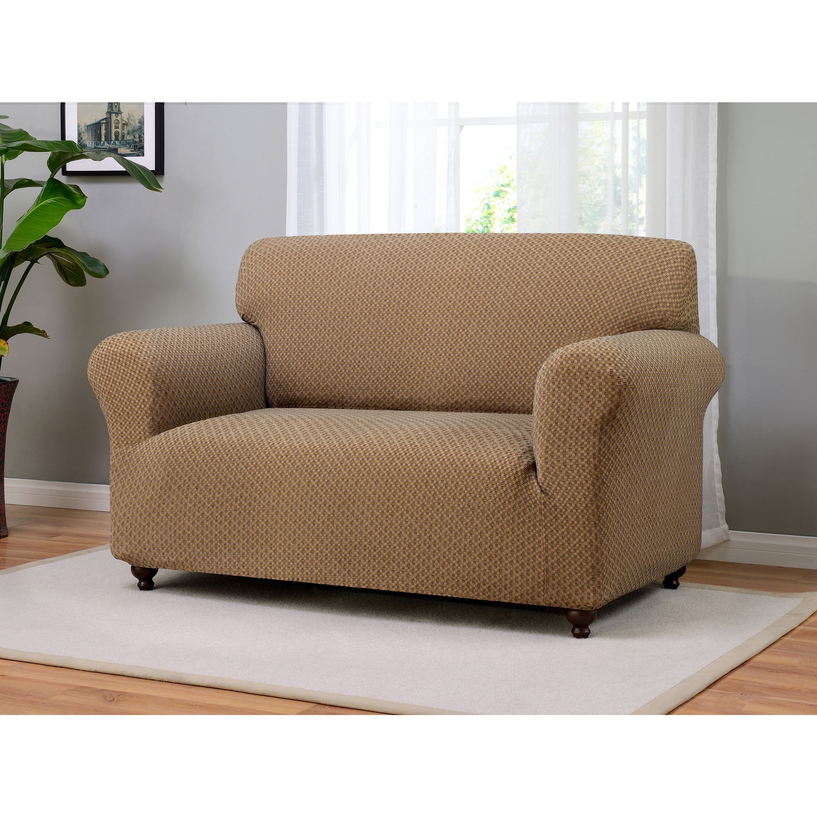 Madison Galway Polyester/Spandex Stretch Loveseat Slipcover