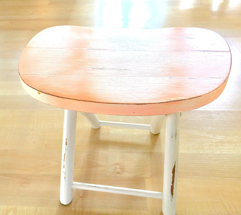 Vintage stool, custom paint https://www.etsy.com/listing/566488233 ...