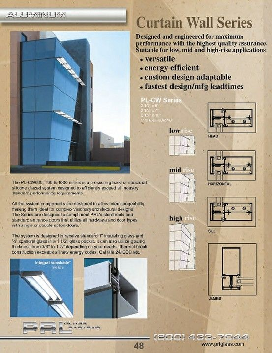 Complete Curtain Wall Systems Prl S Aluminum Curtain Wall Systems