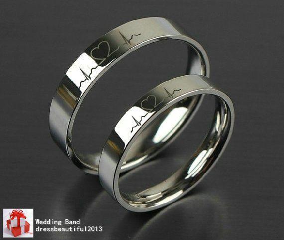 2pcs Free Engraving Purple Titanium Rings Sets Love Token Couple Wedding Rings Anel De Compromisso Aliancas De Namoro Prata Aliancas De Prata