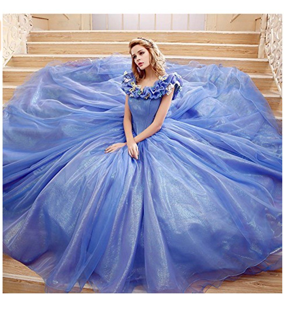 68bda8b48b0 Chupeng Womens Princess Costume Butterfly Off Shoulder Cinderella Prom Dress  Long Tulle Quinceanera Ball Gown Lilac 18   To view further for this item