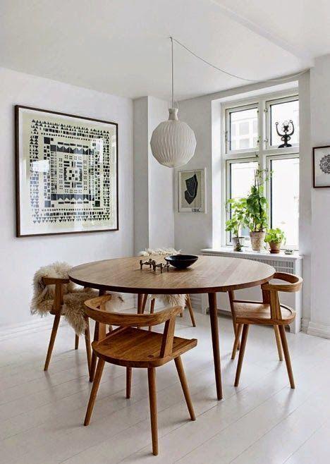 Resultado de imagen para mesa redonda comedor estilo nordico   Casa ...
