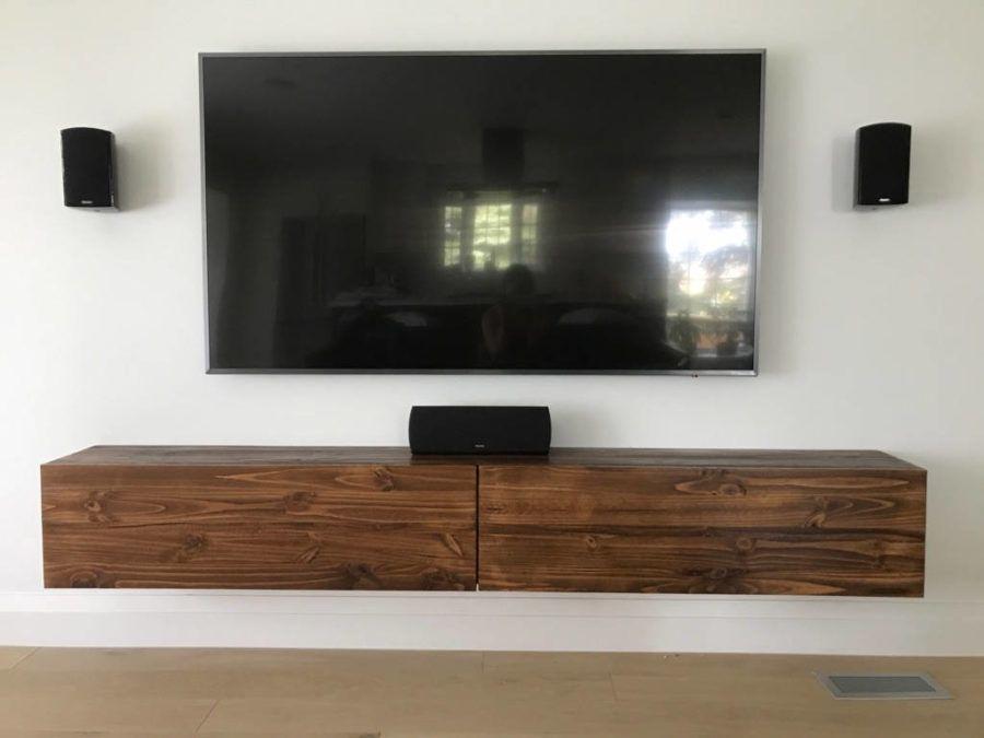 15 Schwimmende Tv Stander Fur Ihr Modernes Wohnzimmer Neue Dekorationsideen Floating Tv Console Wall Mount Tv Stand Tv Console