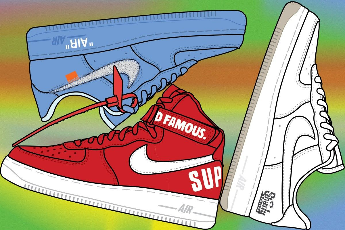 These Are the 20 Most Valuable Nike Air Force 1s On the