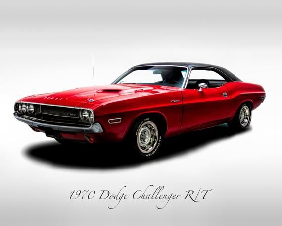 Classic Cars – 1970 Dodge Charllenger R/T – Muscle Car – Print