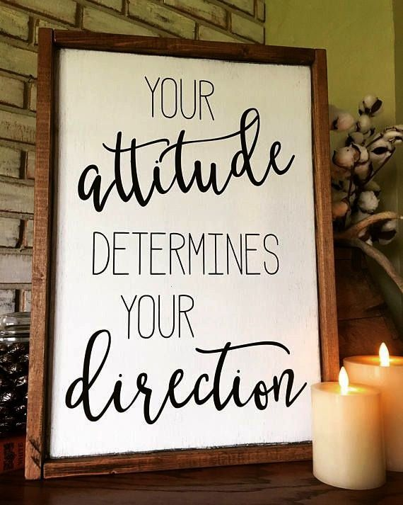 determines Direction Wood Sign  Farmhouse  Inspiration  Teacher Gift  Positive  Attitude determines Direction Wood Sign  Farmhouse  Inspiration  Teacher Gift  Positive  M...