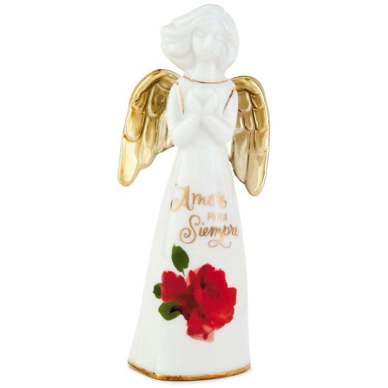 "Lasting Love Spanish Language Angel With Heart Figurine, 6"""