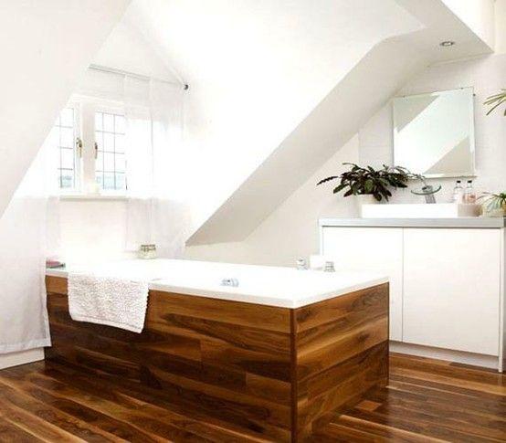 Ideen Badezimmer mit Dachschräge holzwanne Badezimmer DG - dachschrgebadezimmer