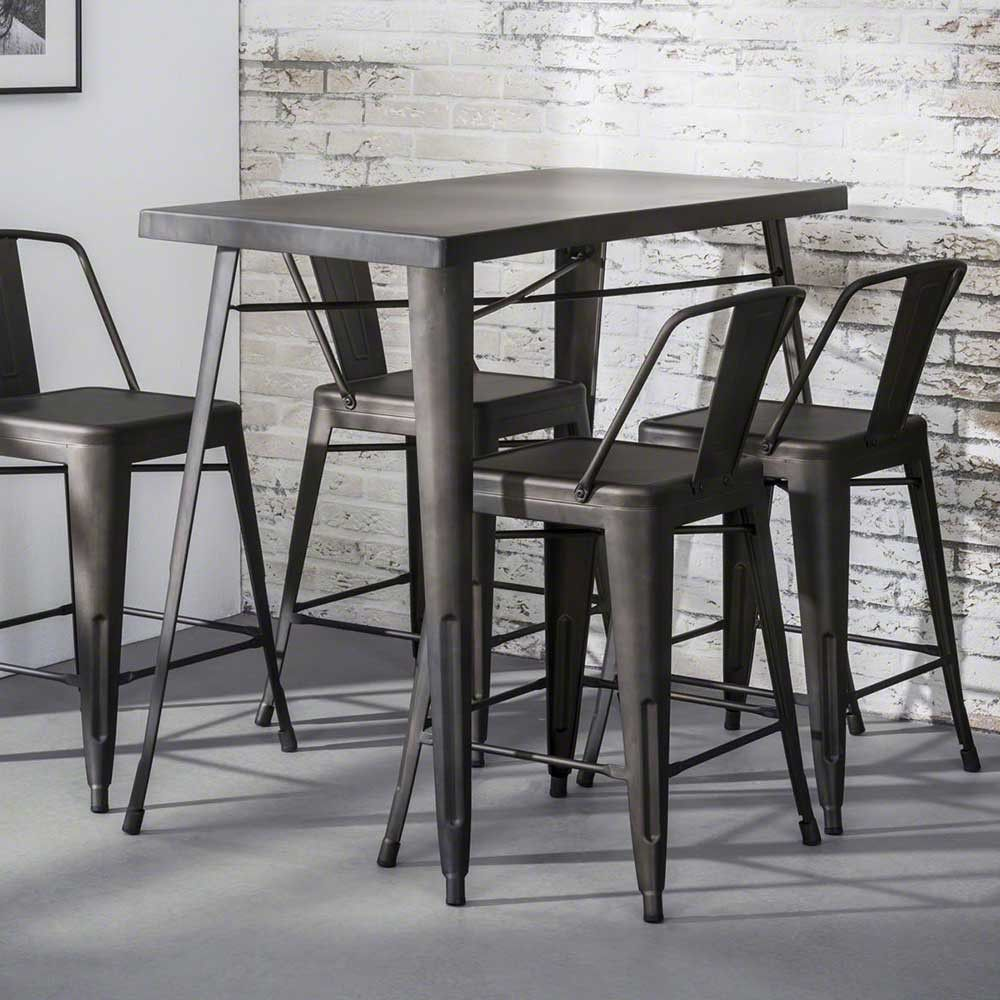 Bartisch Metall metall bartisch grau 120 cm breit diamo | office meeting lounge