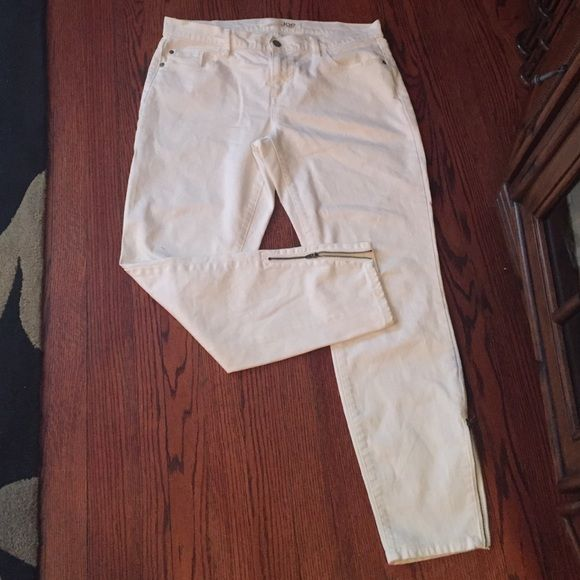 Joe fresh white ankle jeans Ankl zipper said  like new Joe Fresh Jeans Ankle & Cropped