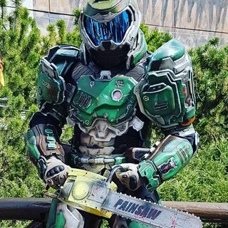 The Most Epic Doomguy Cosplay Ever Gaming Slayer Meme