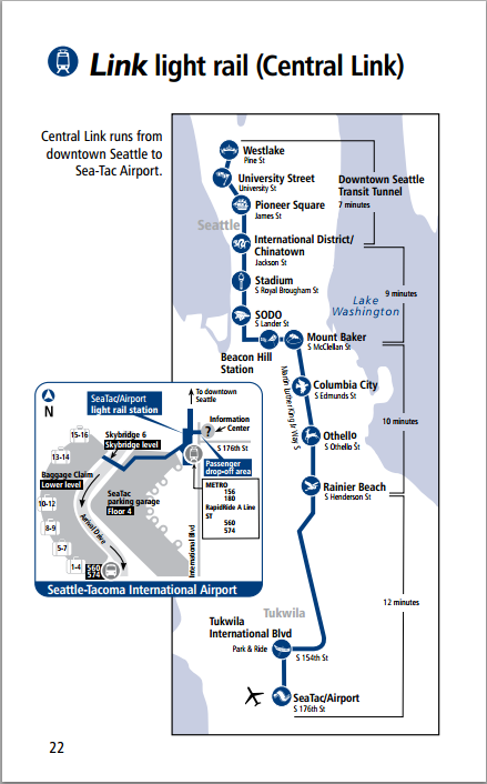 Submission Official Map Seattle Central Link Light Rail Submitted