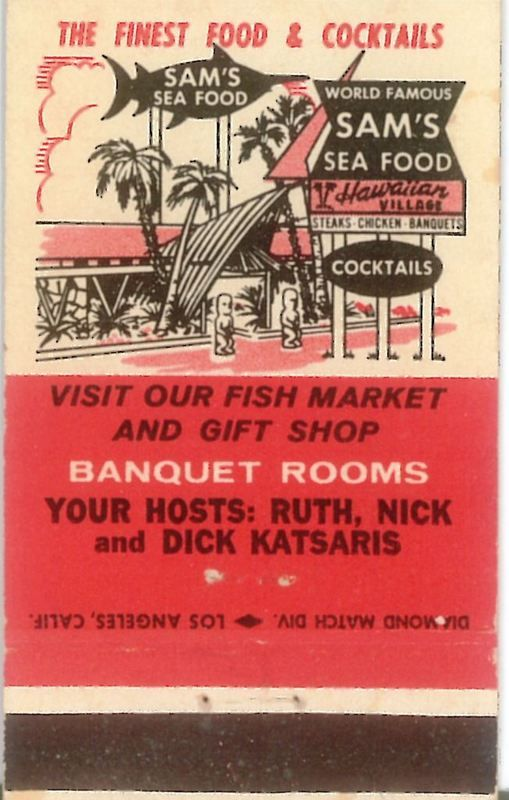 Sam's Seafood on PCH in California  My family went there quite often