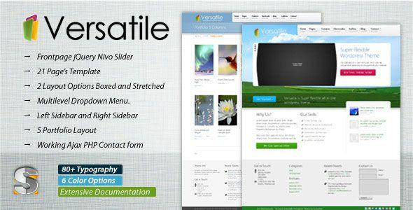 Versatile - Premium Corporate  Portfolio Template xx Pinterest