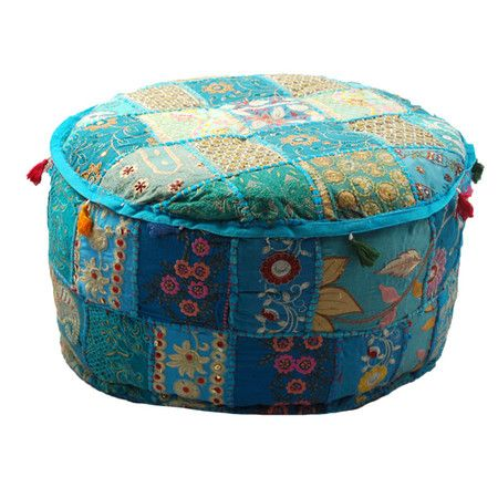 Bohemian Pouf in Blue