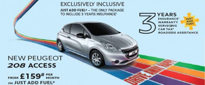 Peugeot 208 Access Now Available On Just Add Fuel One Monthly