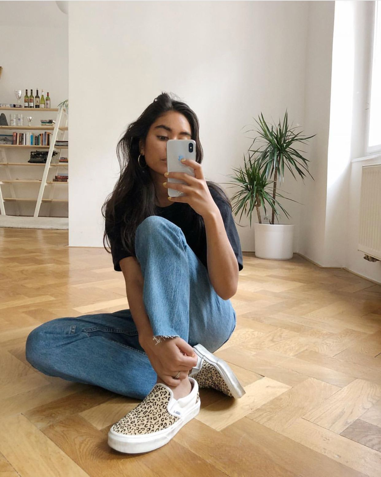 2648f13b96  mariapizzeria 💕 Looking like a babe in her  vans europe Classic Slip Ons  in Leopard Taffy Marshmellow Exclusive  officelovesvans  exclusive   officeloves
