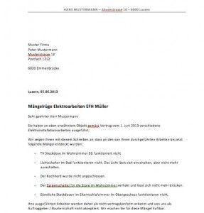 Vorlage Mängelrüge | Muster und Vorlagen | Pinterest | Vorlagen ...