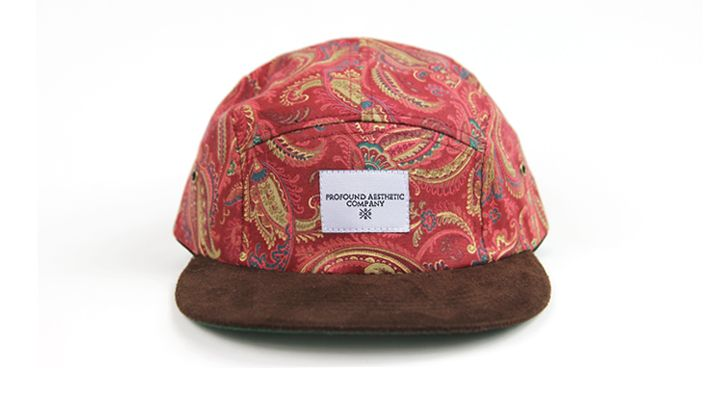 Profound Aesthetic - The Alizarin Paisley 5 Panel Hat i like it ... 344adc4b82f