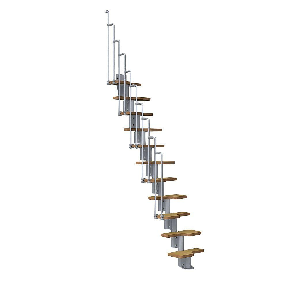 Best Arke Nice2 22 In Grey Modular Staircase Kit Modular 400 x 300