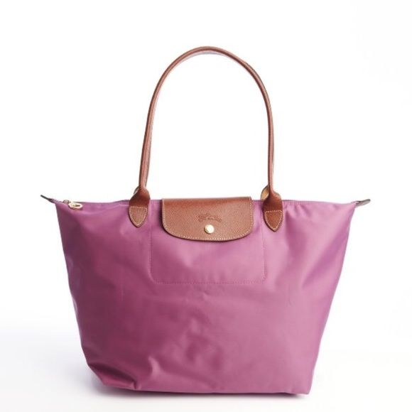 bda648fdb980 Longchamp Le Pliage Large Shoulder Tote in Lilac Longchamp s  1 selling  handbag is a true classic- sturdy