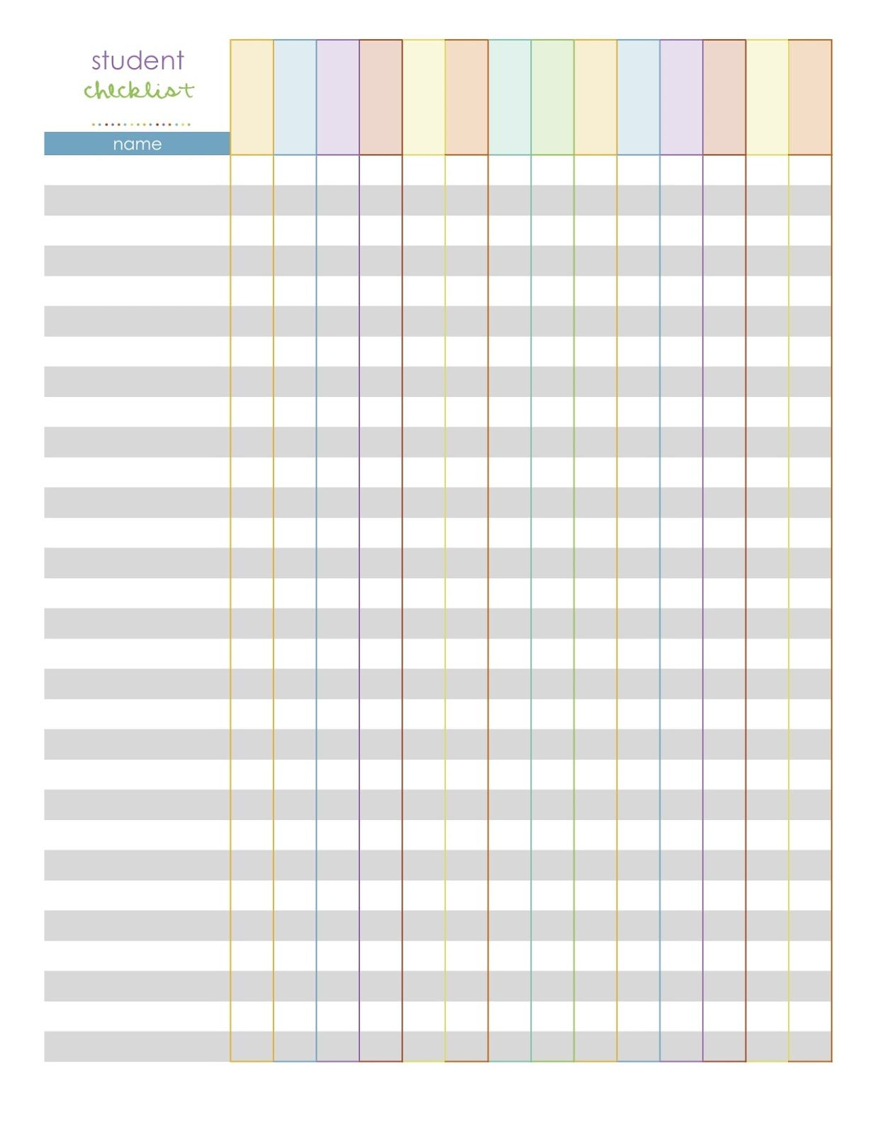 elementary class list template | monthly planning pages- a calendar