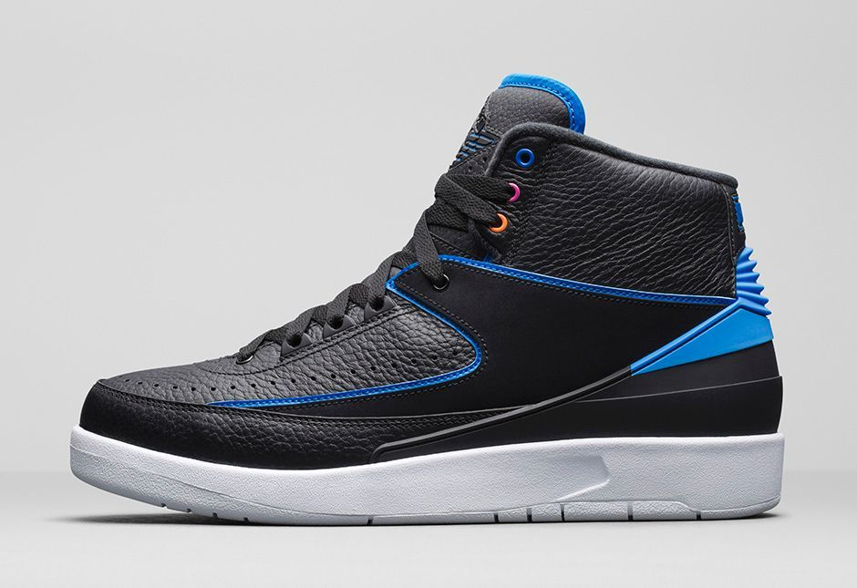 Here is a detailed look at this new Air Jordan 2 Retro 'Radio Raheem'  Sneaker Available HERE with more sizes HERE + HERE with GS sizes .