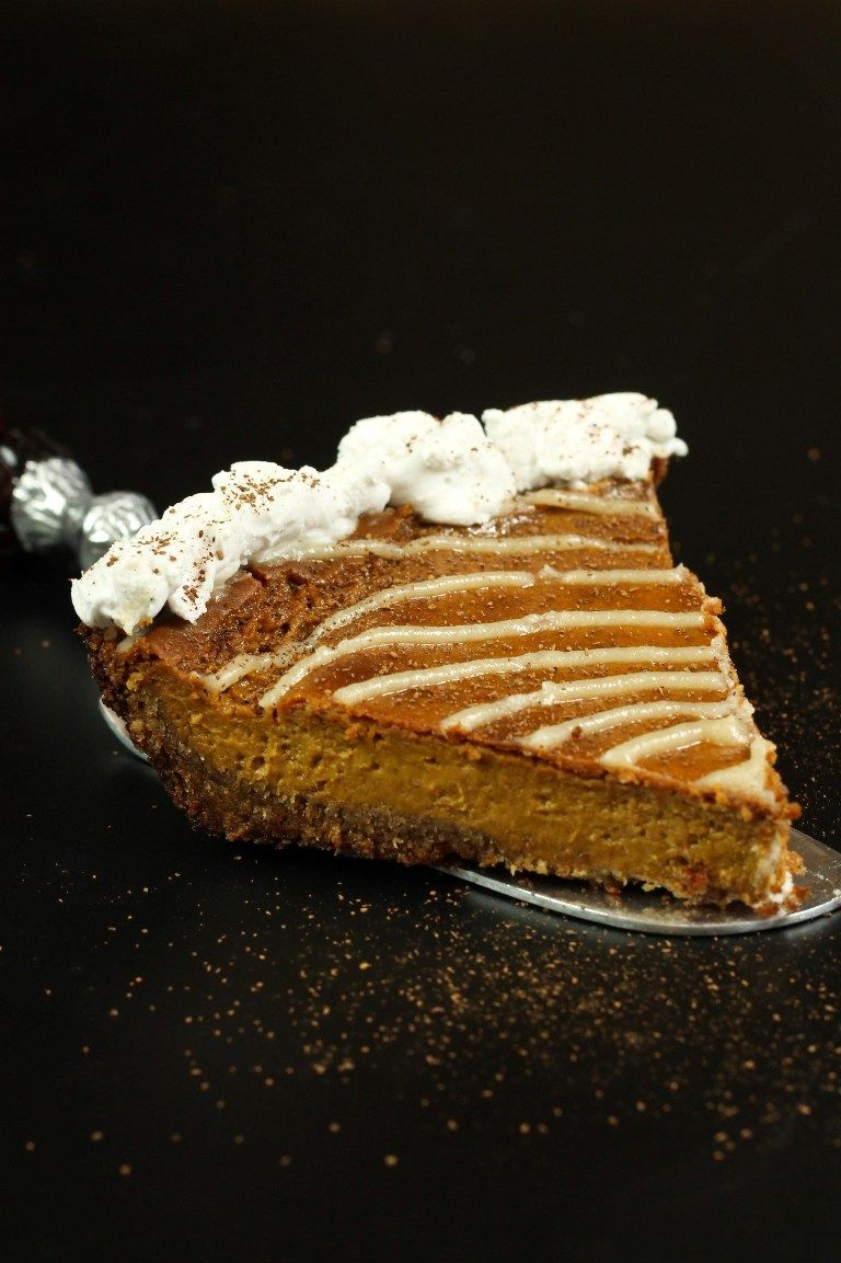 No, 3rd time's not a charm, that would be 4. That is what it took before I loved this vegan pumpkin pie. Would you believe that I am not really a fan of pumpkin pie? I've never liked pumpkin pie because I have always found it's too strong of pumpkin flavor, too bland almost. I also cannotstand overly soggy, wet