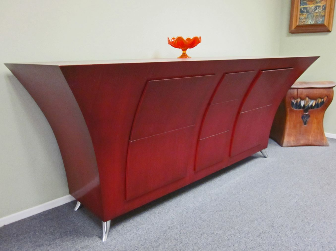 red modern buffet table - Google Search