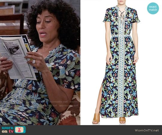 4b050bfd0724 Rainbow s floral maxi dress and sneakers on Black-ish in 2019 ...