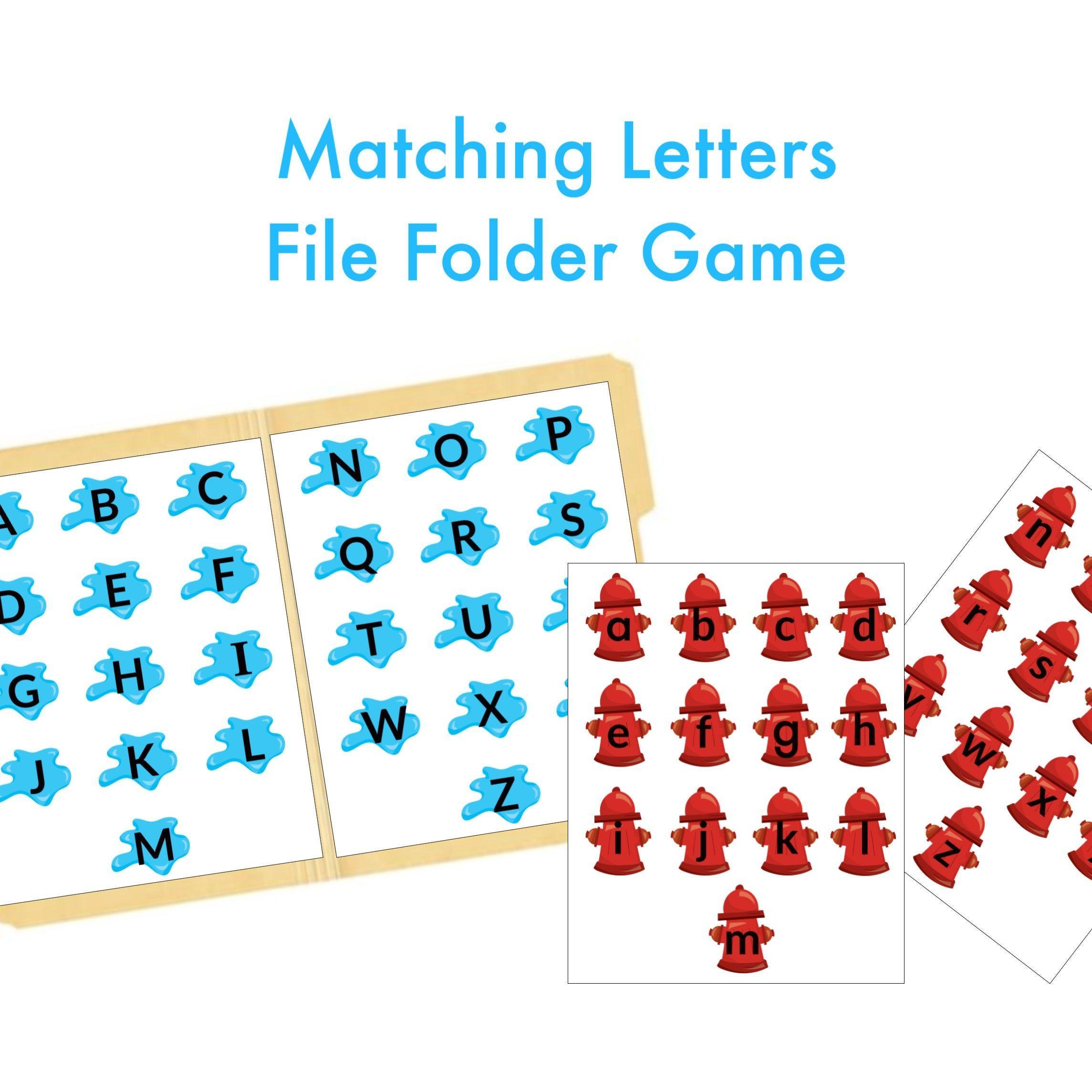 Alphabet File Folder Game Busy Binder Quiet Book Printable