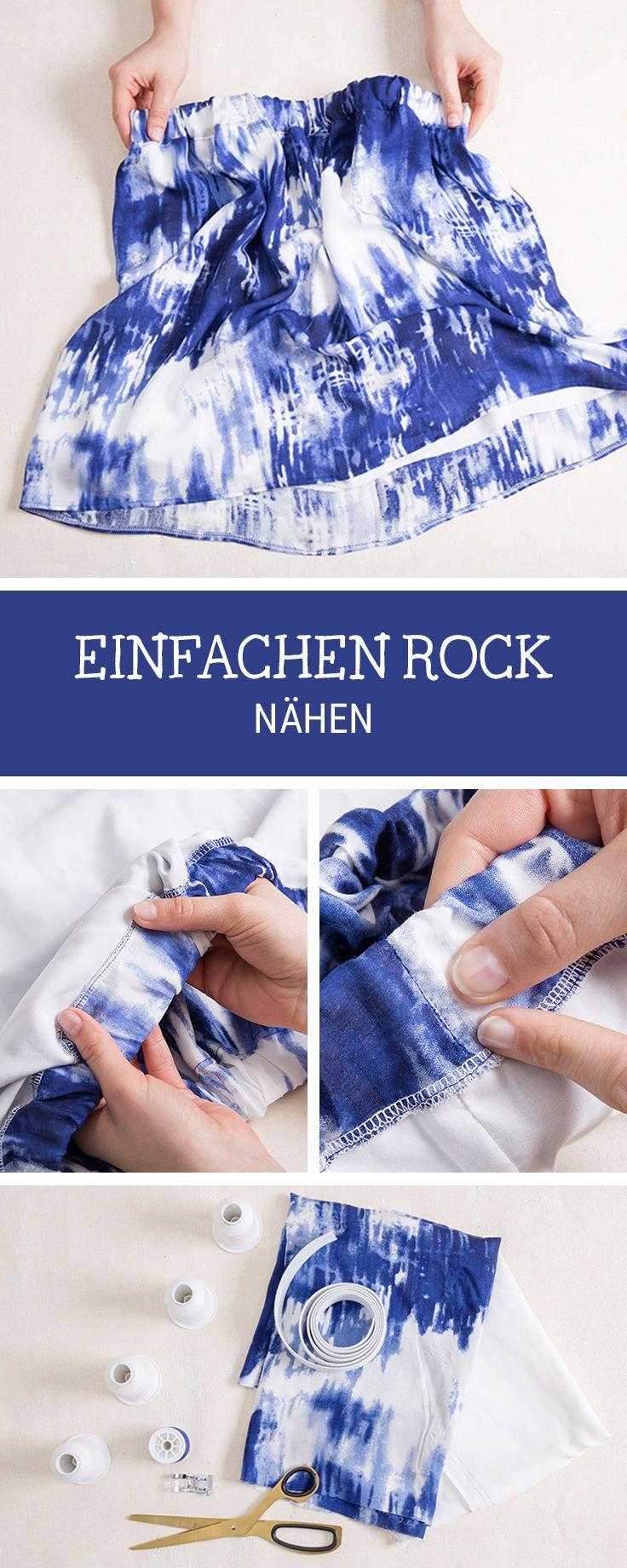 DIY-Anleitung: Einfachen, sommerlichen Rock nähen via DaWanda.com ...