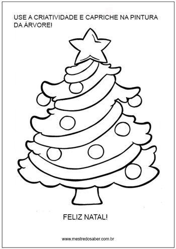 Pinte A Arvore De Natal Natal Colorir Paginas Para Colorir