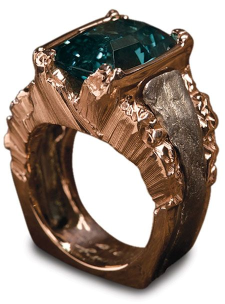 """Torres del Paine Ring by Cynthia Rene Zava; First Place winner MJSA Vision Awards 2012 for """"Custom Design"""""""